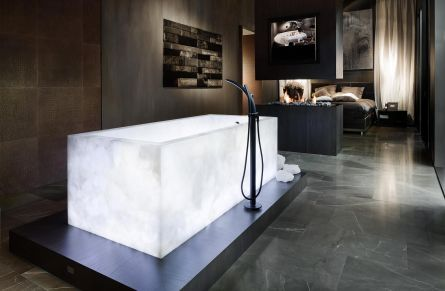 1 crystal illuminated bath design