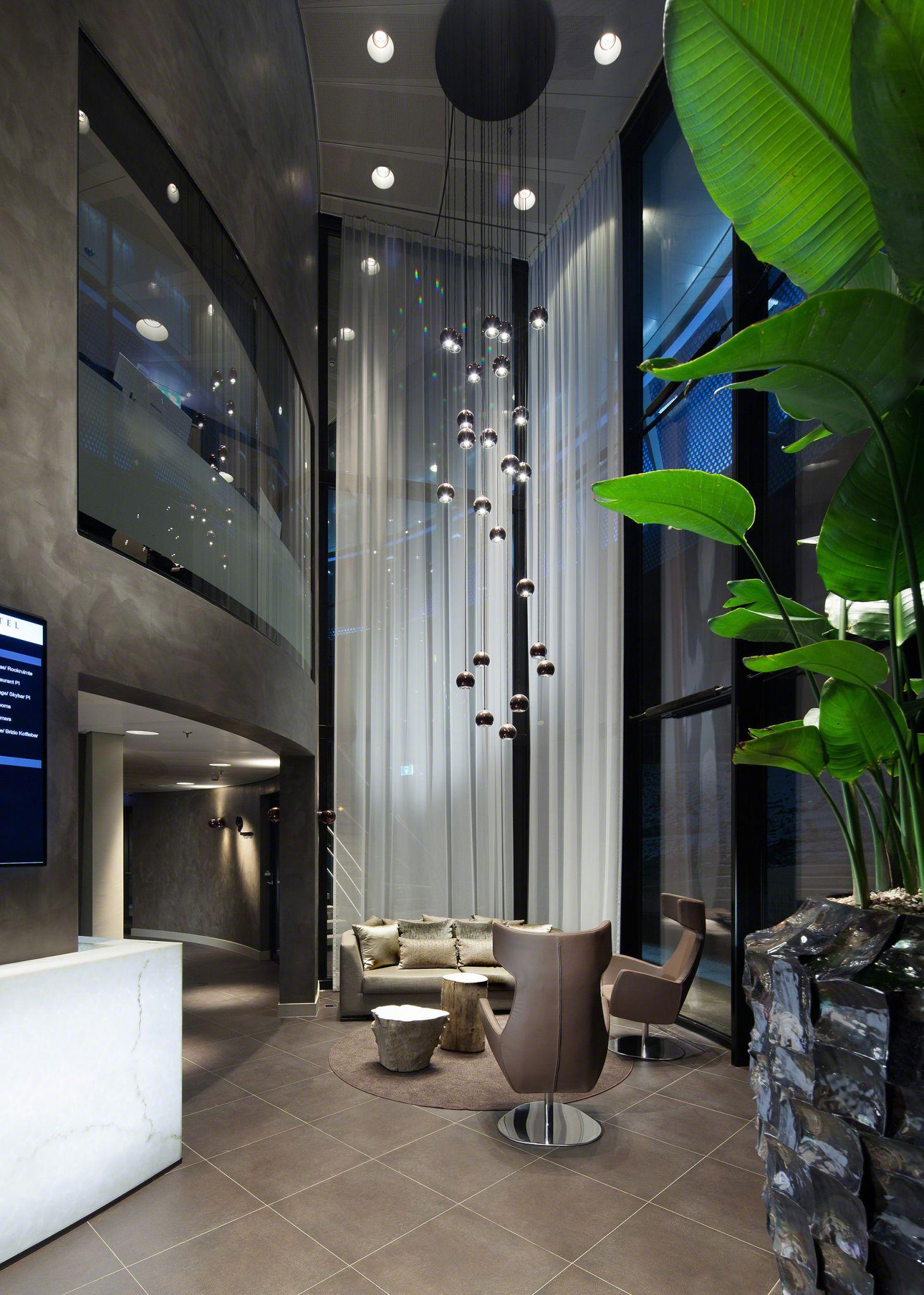 interior design of the lobby at Fletcher Hotel Amsterdam.